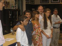 Rodrigo Zalazar, Nicolás Dasso, María Barreto y Lourdes Hartkopf