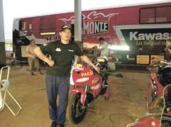 Una fija. Fabián Rosinski, ahora con el Rosamonte Racing Team, va por el primer título (Foto El Territorio)