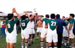 Merecido festejo. Los jugadores de la URuMi celebraron el éxito en San Luis