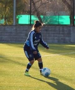 Cecilia López, la posadeña que juega en San Lorenzo de Almagro tiene un lugar casi asegurado para los Panamericanos de Toronto (Foto AFA)