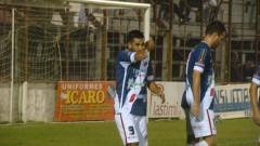 Luciano Legizamon, festejando el tercer gol para Guaraní ante Juventud Unida (Foto club Guaraní)