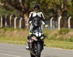 Adrián Silveira terminó tercero en Superbike y está segundo en el campeonato (Foto Rodrigo Coss)