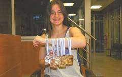 Astrid Olmedo medallas Copa Austral