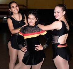 Bárbara, Valentina y Milagros fueron convocadas a la Selección Argentina de patín de cara al Panamericano de Brasil (Foto Primera Edición)